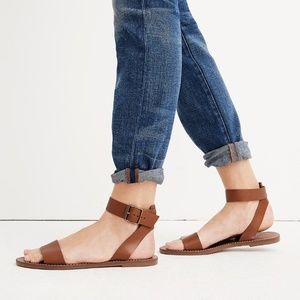 Madewell Boardwalk Brown Leather Sandal